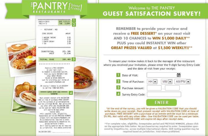 PANTRY Guest Satisfaction Survey2