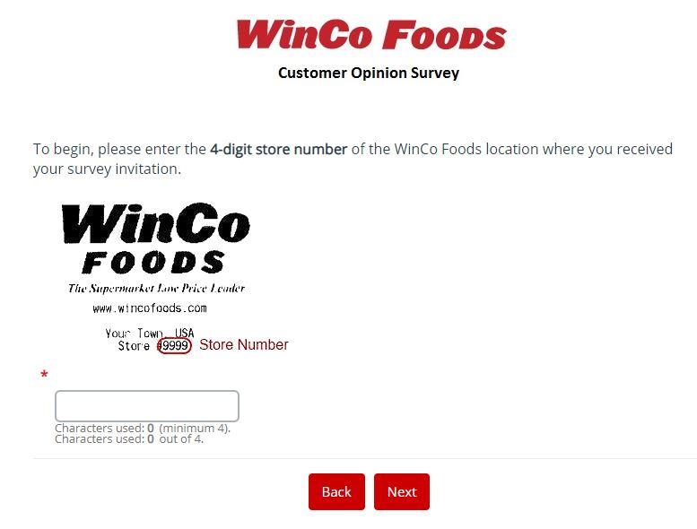 WinCo Foods Survey