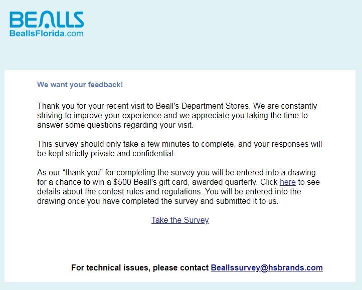Bealls Florida Survey