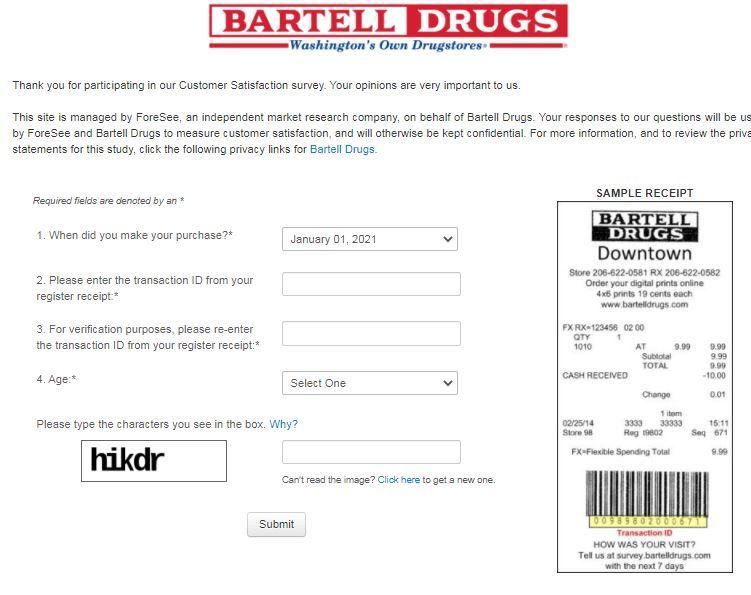 Bartell DrugsSurvey