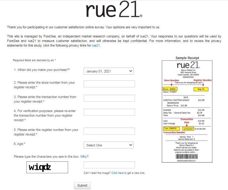 Rue21Survey