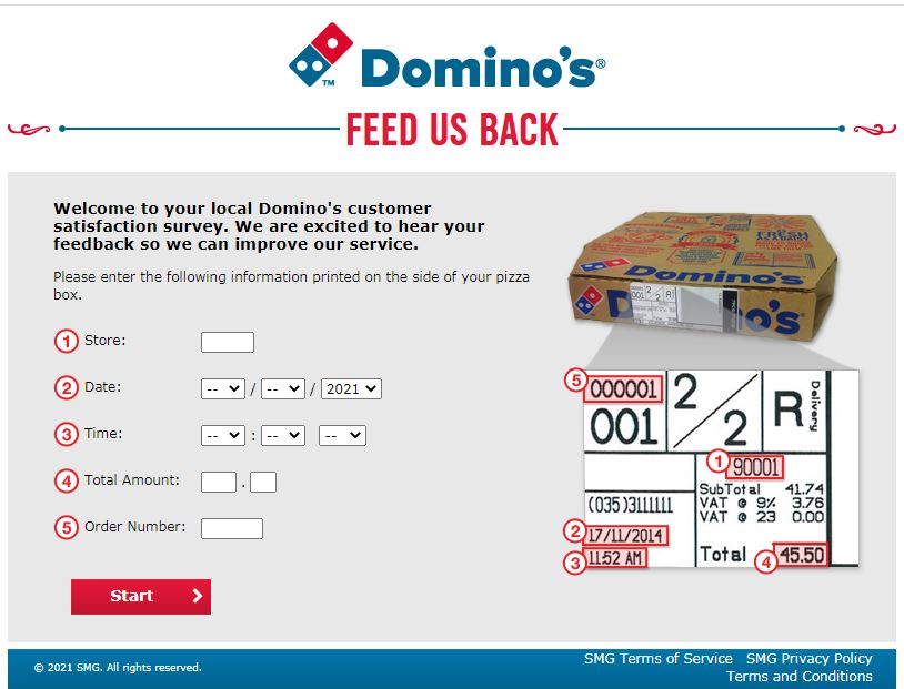 Domino's Feedback